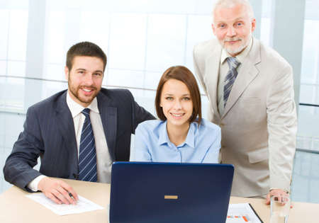 Portrait of successful professionals looking at camera Stock Photo - 6866746