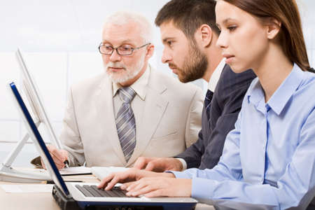 Business people working in the office Stock Photo - 6866608