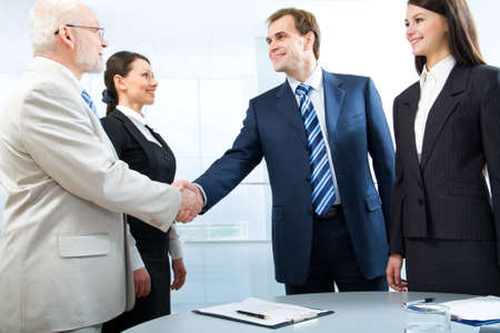 Business colleagues shaking hands Stock Photo - 7800163