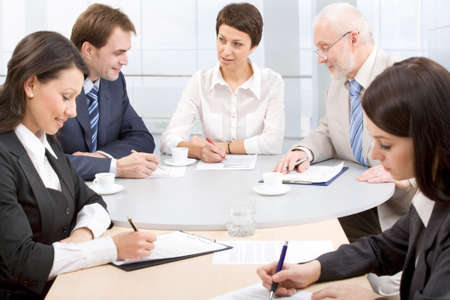 Business people discussing in a meeting Stock Photo - 7800143