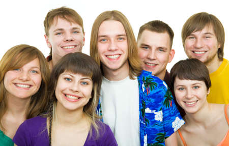 Group of students smiling Stock Photo - 7800177