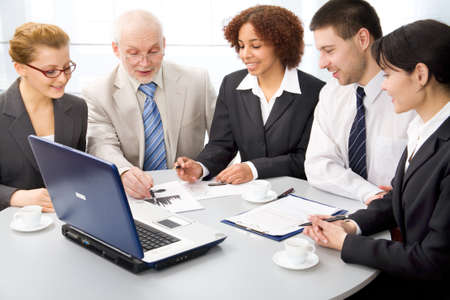 Business people work in a conference photo