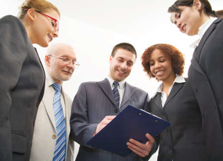 Group of five business people Stock Photo - 7800147