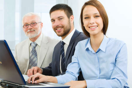 Portrait of successful professionals looking at camera Stock Photo - 9265141
