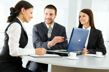 Business people working in the office photo