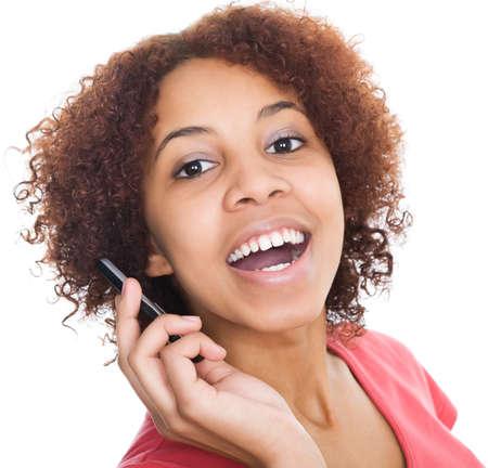 Happy Phone Girl    photo