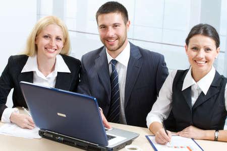 Working business team photo