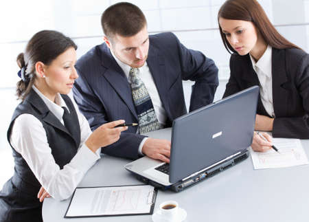 Business people working in team in the office Stock Photo - 9335435