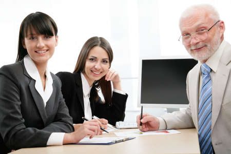 Portrait of successful professionals looking at camera Stock Photo - 9372681