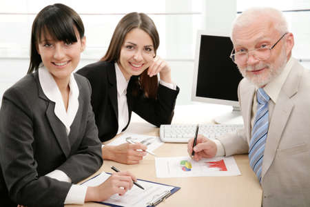 Portrait of successful professionals looking at camera Stock Photo - 9372757