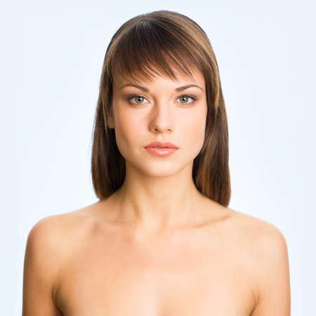 Beautiful girl . Perfect skin concept Stock Photo