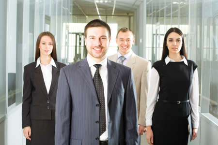 businessteam: Young and successful businessteam in an office