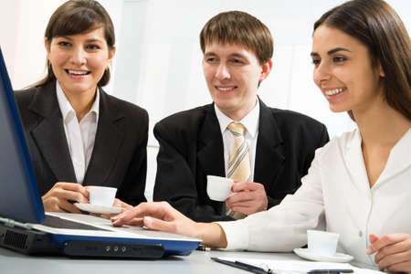 Modern business people working in the office Stock Photo - 10011817