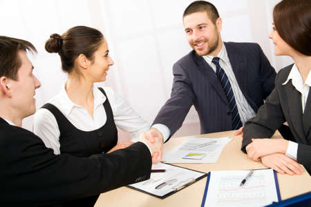 Business people in a work meeting in the office Stock Photo - 10184760