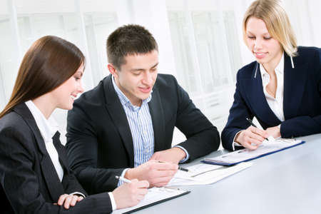 Business meeting - Team working on project   Stock Photo - 10492863