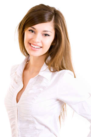 lovely businesswoman: Beautiful young business woman.
