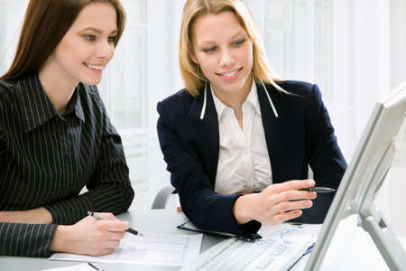 Businesswomen colleagues working together Stock Photo - 10539405