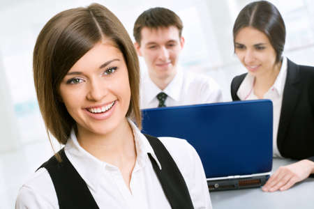 entrepeneur: Business woman in an office environment