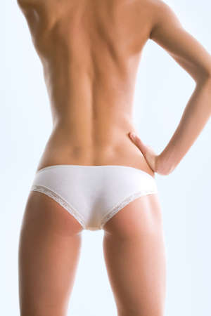 Perfect female body isolated on white background Stock Photo