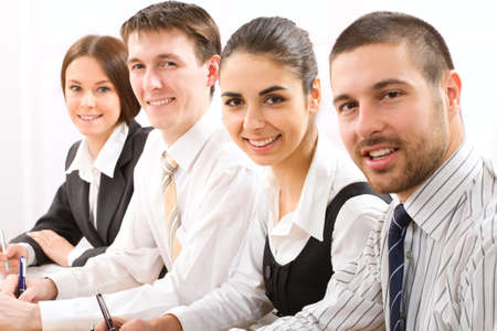 technology to communicate: Team of people working in a office