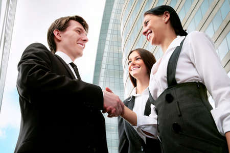 diplomacy: Image of business partners making an agreement Stock Photo