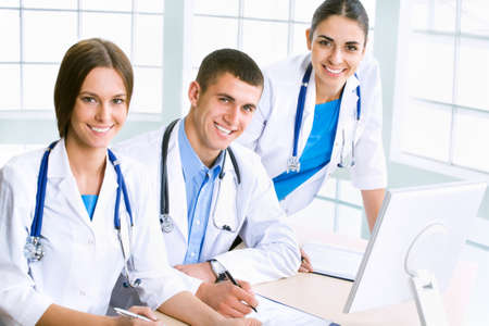 Young doctors in the workplace photo