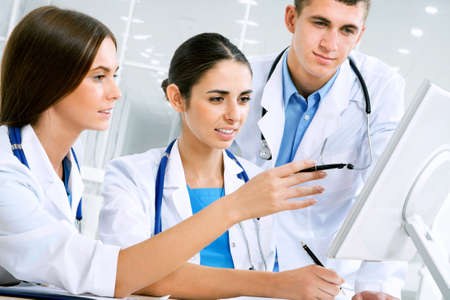 joy health: Young doctors working in hospital Stock Photo