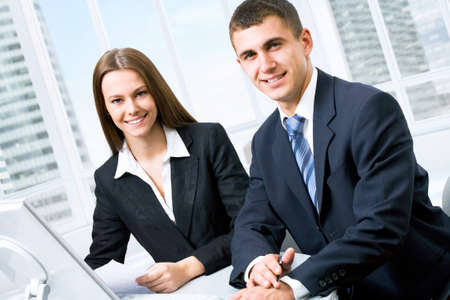 accounting: Young business people at office