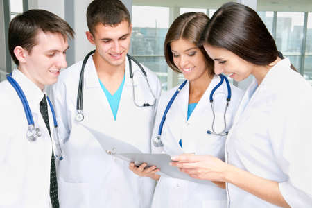 Young doctors working in hospital Stock Photo - 12836562