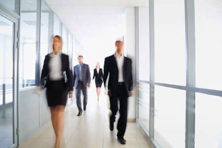 hallway: Business people in modern office Stock Photo