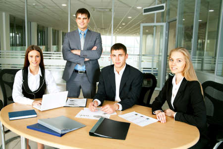 Business people in modern office Stock Photo
