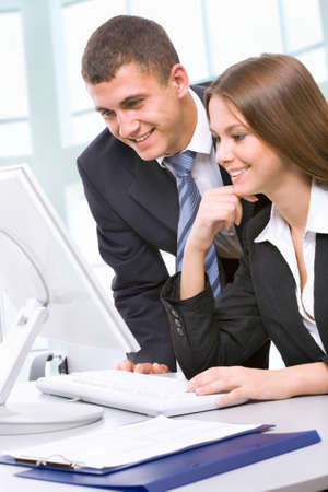 business advisor: Image of business people discussing plan at meeting Stock Photo