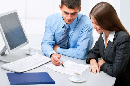 Image of business people discussing plan at meeting Stock Photo - 13462142