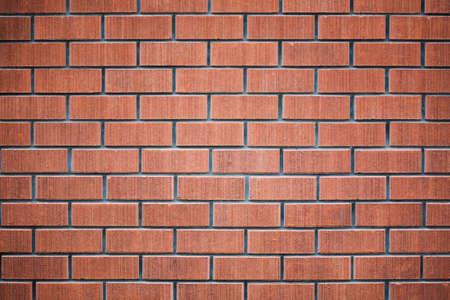 paredes de ladrillos: Antecedentes de una pared roja Foto de archivo