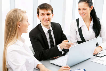 Business people working at office photo