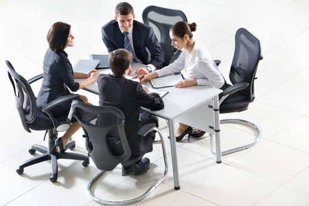 Business people sitting at a table for meeting