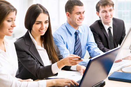 Group of business people working at office Stock Photo - 13541699