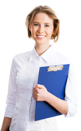 sexy teacher: Nice businesswoman smiling and looking at camera