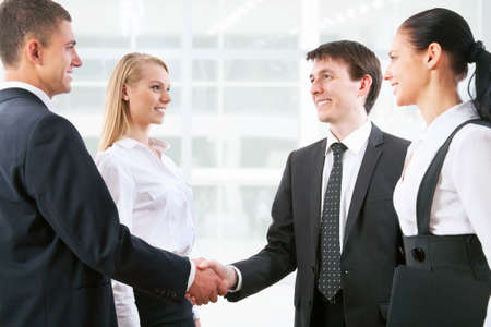 Handshake business people before the meeting Stock Photo - 13622883