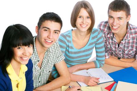 studygroup: Portrait of a happy students Stock Photo