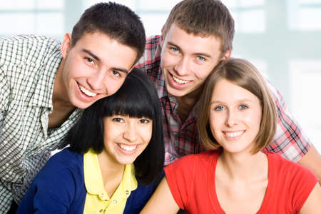 diverse people: Portrait of a happy students Stock Photo