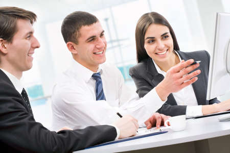Business team at a meeting in a  office photo