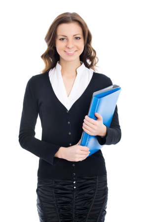 sexy business women: Portrait of a young attractive business woman Stock Photo
