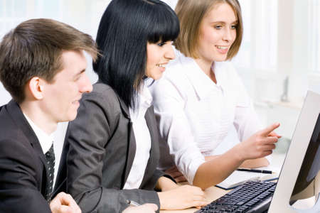 Young business people working in the office Stock Photo - 13854531