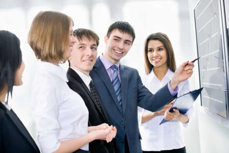 Business people is working together with the screen Stock Photo - 14735052