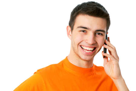 A young man talking on the phone Stock Photo - 14735012