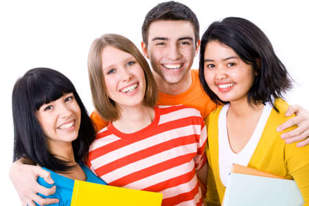 studygroup: A multi-racial group of College students Stock Photo