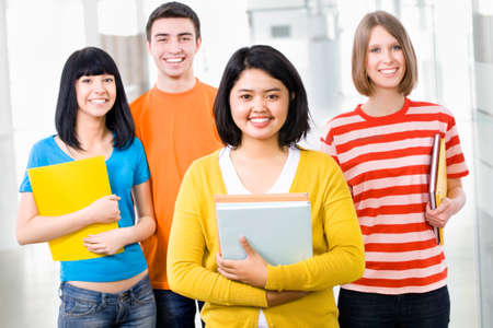 Group of happy students look at the camera Stock Photo - 14735186
