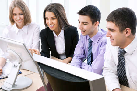 Portrait of a multi ethnic business team Stock Photo - 14735092