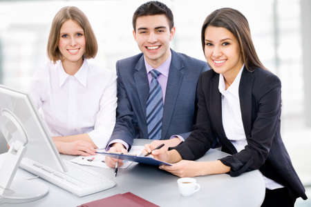 Portrait of a multi ethnic business team Stock Photo - 14735112